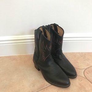 Durango Childrens cowboy black boots